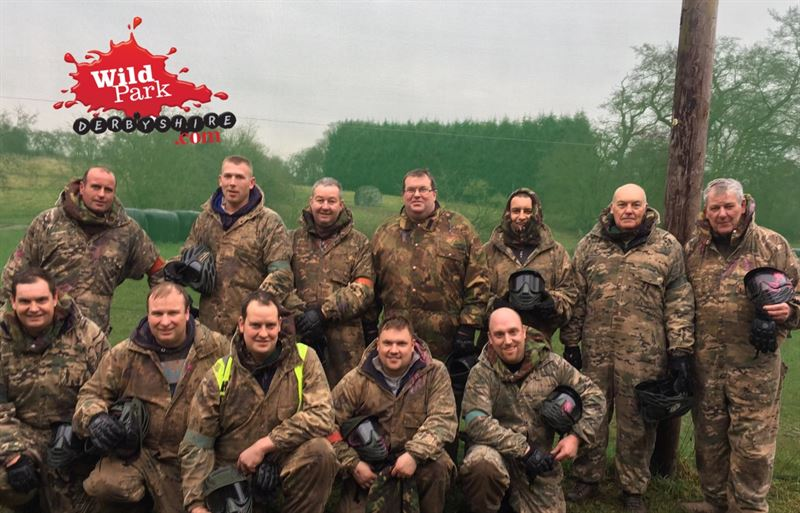 Paintballing at Wild Park Derbyshire